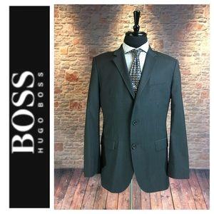 💙Men's Hugo Boss gray/blk pinstriped suit jacket